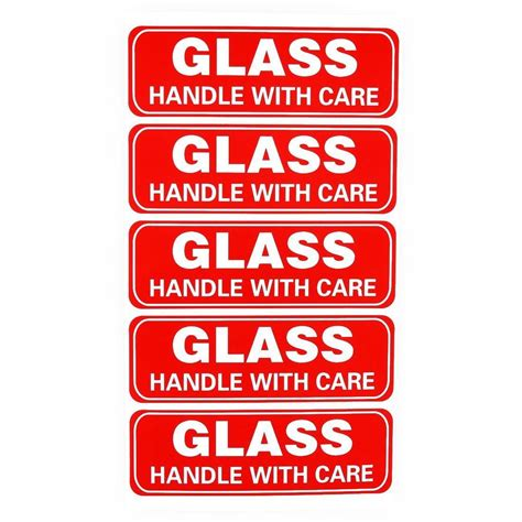 Stiker Fragile Berkualitas 1 glass handle with care sticker fragile labels printable fragile packing sticker ebay