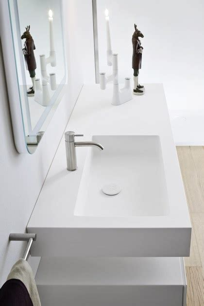 Unico Countertops by Unico Washbasin With Integrated Countertop By Rexa