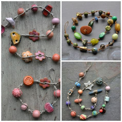 make a jewelry how to make simple knotted bead necklaces