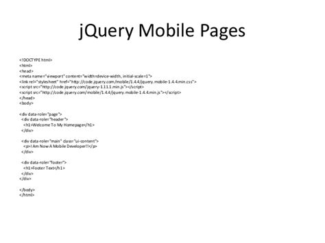 tutorial jquery mobile advanced jquery mobile tutorial with phonegap