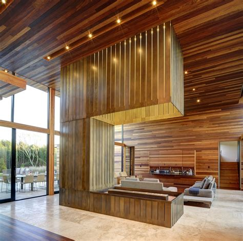 wood interior world of architecture modern wood house by bates masi
