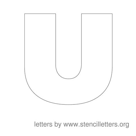 large printable letter u large stencil letters stencil letters org