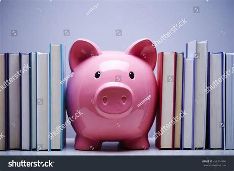 sydney s piggy bank books piggy bank books stock photo 456774190