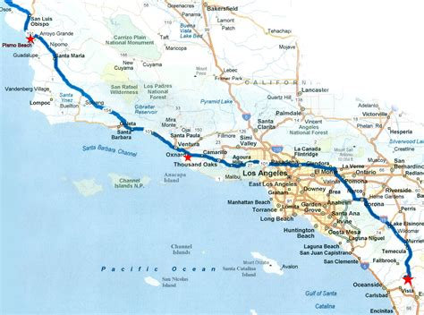 California Pch Map - california road trip map afputra com
