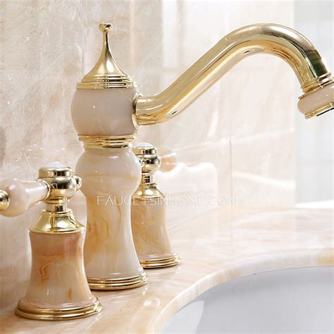 luxury bathroom sink faucets luxury polished brass jade three bathroom sink faucets