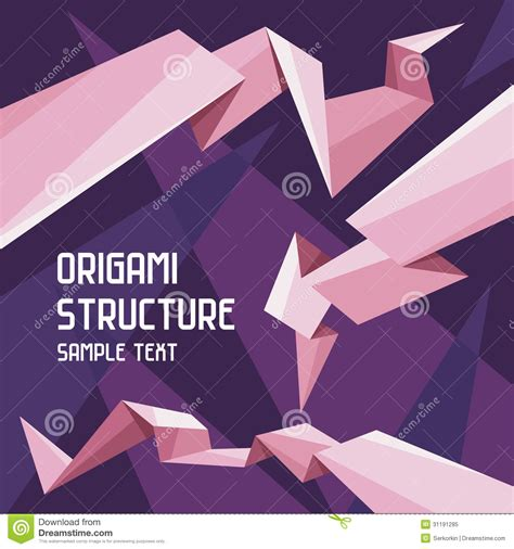 Origami For Designers - origami structure concept royalty free stock photo image