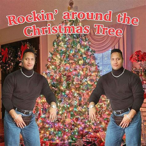 rocking around the christmas tree movies picture of the day merry from the rock 171 twistedsifter