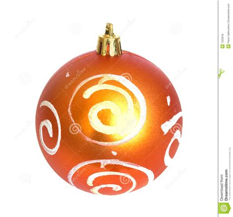 orange christmas bauble royalty free stock photos image