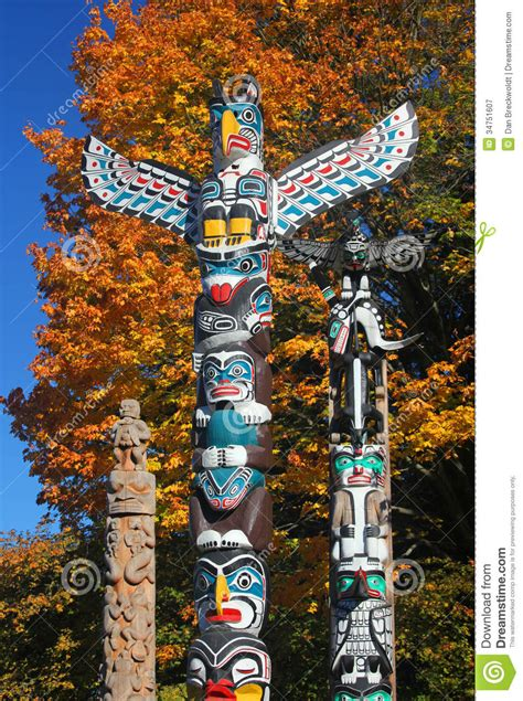 totem poles stock image image of culture native