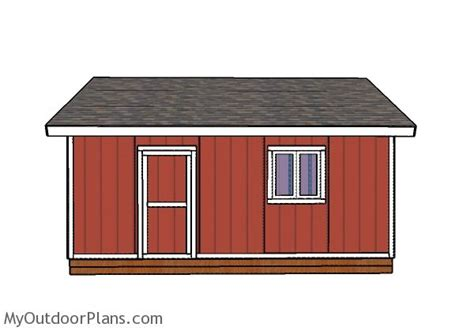20 X 20 Shed Plans by 20x20 Shed Plans Myoutdoorplans Free Woodworking Plans