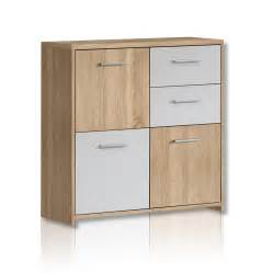 kommode kommode quadro sonoma eiche wei 223 kommoden sideboards