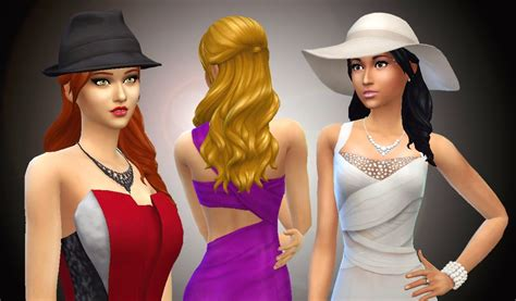 sims 4 long wavy hair without bangs my sims 4 blog kiara24 long wavy without bangs hair for
