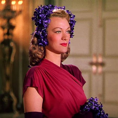 purple hairstyles for a women in her 40s eve arden in quot cover girl quot 40s vintage fashion style purple