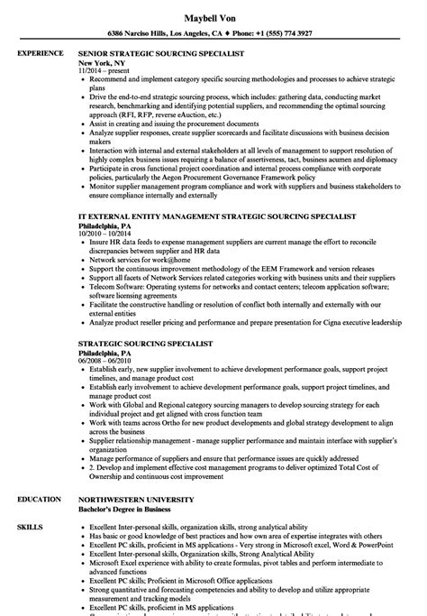 Sourcing Specialist Sle Resume Delighted Sourcing Resumes Techniques Pictures Inspiration
