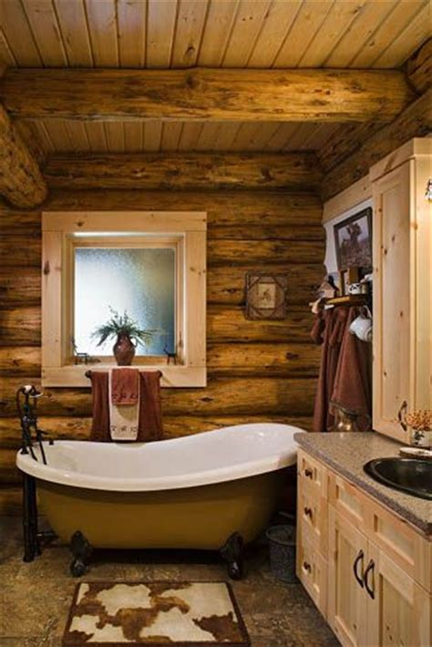 log bathrooms home decor rustic style montana log homes the