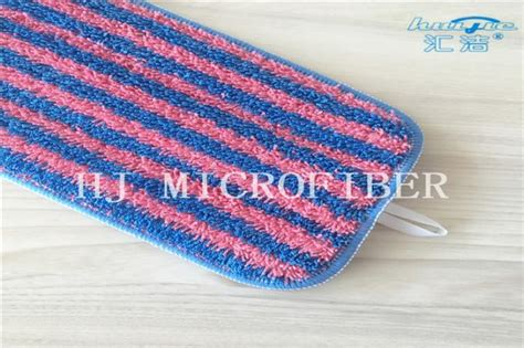 Bling Microfiber Stripe Mop Refill and blue stripe yarn dyed microfiber twisted fabric