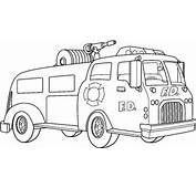 Fire Truck Coloring Pages  Bestofcoloringcom