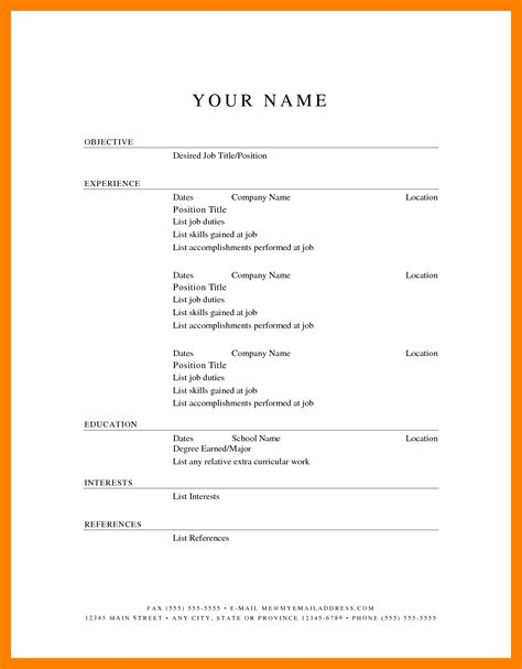 6 Free Printable Fill In The Blank Resume Templates St Columbaretreat House Free Printable Fill In The Blank Resume Templates