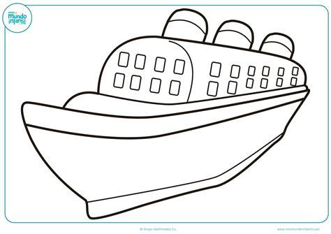 barco para dibujar dibujos de barcos para colorear mundo primaria