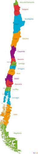 Chile Blank Map by Chile Map Blank Political Chile Map With Cities