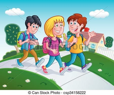 student walking home clipart - Clipground Happy Valentines Day Clip Art Children