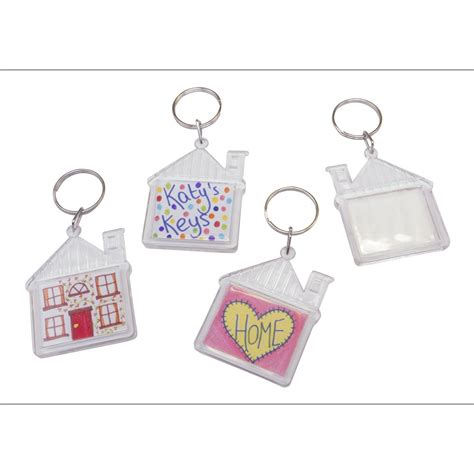 house acrylic keyring design your own from crafty