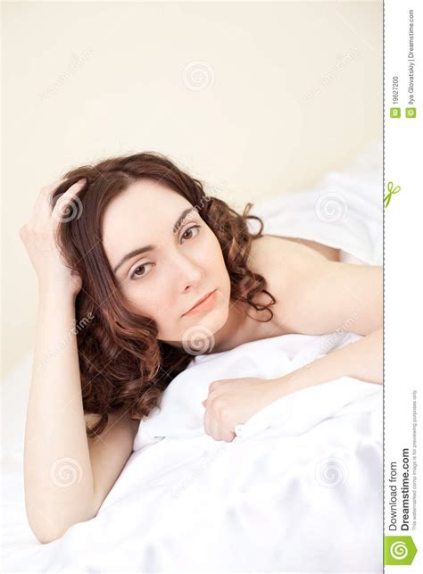 sexy women in bed beautiful sexy woman lying in bed stock photo image 19627200