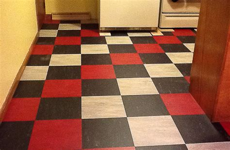 checkerboard pattern vinyl flooring red kitchen floor tiles modern diy art designs