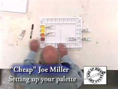 cheap joe s watercolor tutorial setting up your watercolor painting palette cheapjoes com