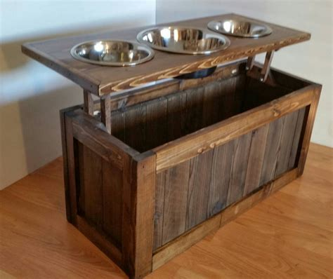 3 bowl feeder raised feeder with storage 3 bowl feeder pet feeder