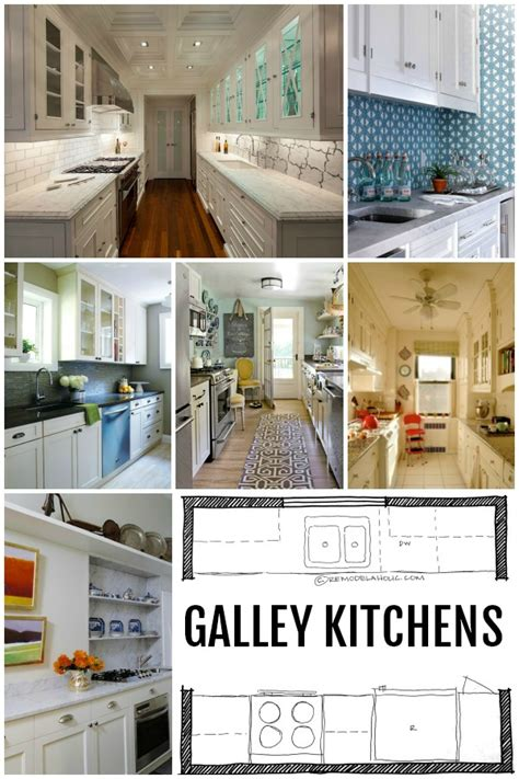 Small Galley Kitchen Design Layouts Remodelaholic Popular Kitchen Layouts And How To Use Them