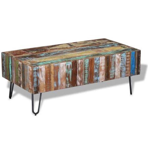 table basse 100 x 50 vidaxl table basse bois massif de r 233 cup 233 ration 100 x 50 x