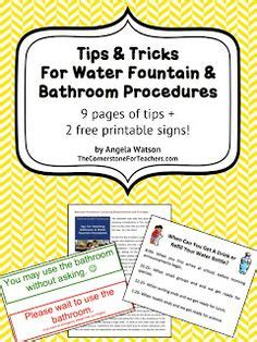 classroom bathroom procedures 1000 ideas about bathroom procedures on pinterest