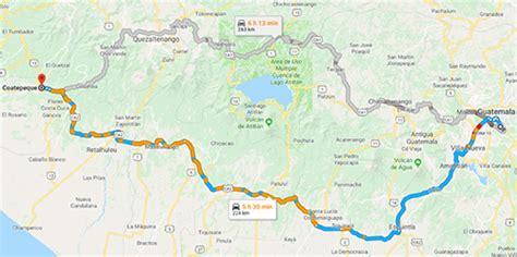 vias de acceso  coatepeque municipios de guatemala