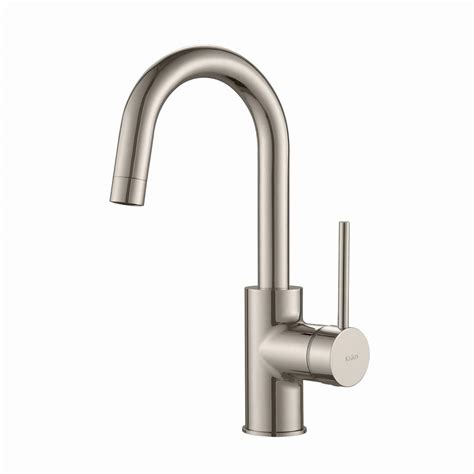 restaurant faucets kitchen kraus oletto single handle kitchen bar faucet in stainless