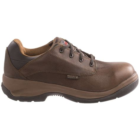 work oxford shoes rocky ergotuff oxford work shoes for 7540w save 31