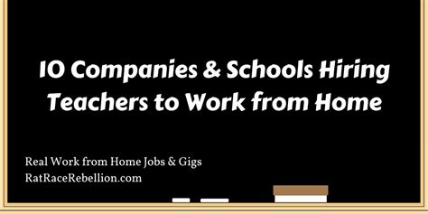 10 companies schools hiring teachers to work from home