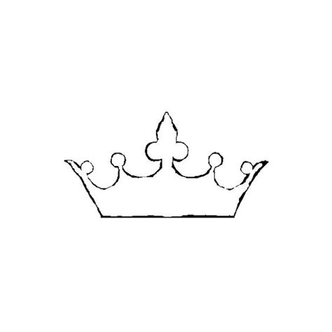 printable simple crown crown outline liked on polyvore audrey s french bedroom