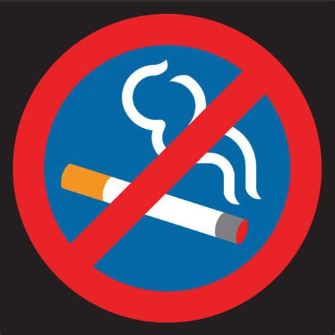 no smoking sign blue no smoking markings by thermmark