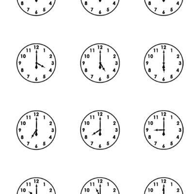 printable clocks to the hour printable clock faces worksheets tutors worksheets and