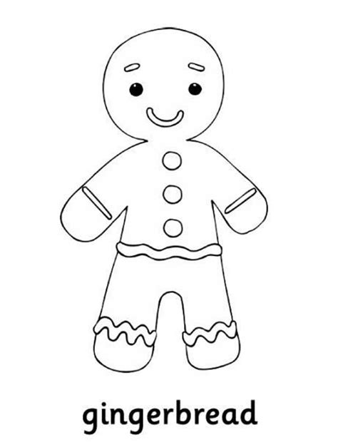 Gingerbread Man Coloring Pages For Kids Coloring Home Gingerbread Coloring Page