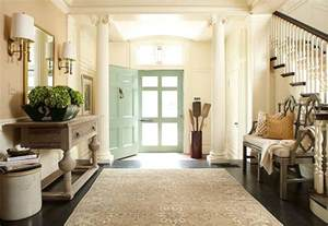 sure fit slipcovers decorating a welcoming front entry