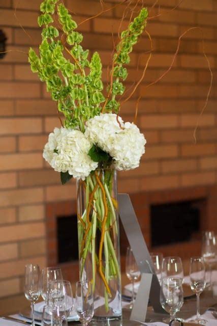 Wedding Bell Hydrangea by Centerpiece Of White Hydrangea Bells Of Ireland And