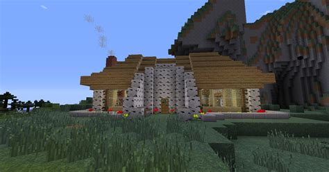 wooden house in minecraft birch wood house minecraft project
