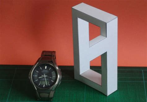 Optical Illusion Papercraft - ikemath s impossible gallery vol 2