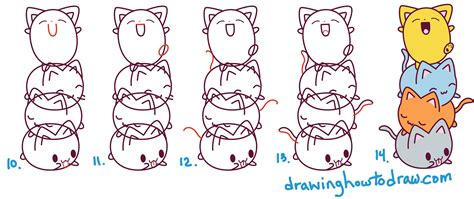 cat step step cat drawing step by step easy www pixshark images