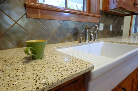 recycled kitchen countertops recycled glass contemporary kitchen countertops san