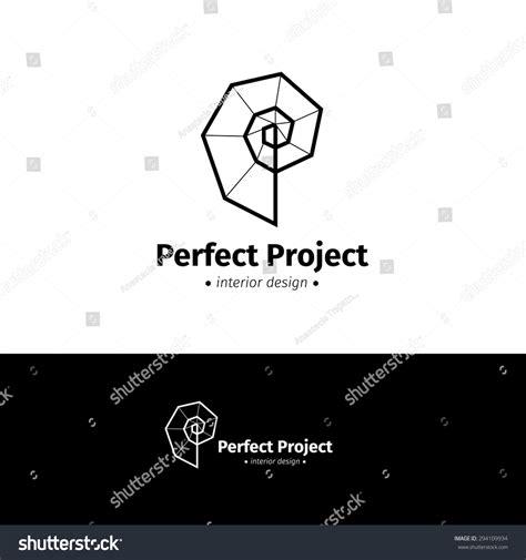 vector modern minimalistic interior design logo black and