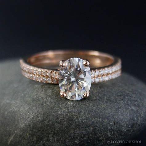 oval moissanite solitaire engagement ring forever
