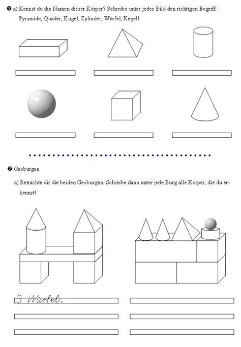 ecken block formen 220 bungen zu den geometrischen k 246 rpern in der 3 klasse